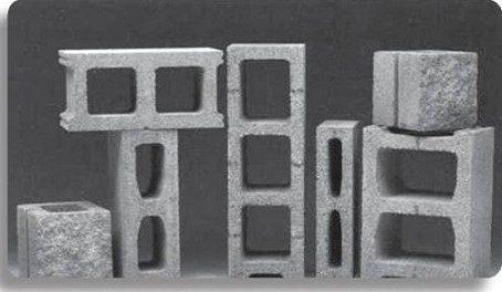 Vật liệu bê tông nhẹ được sử dụng nhiều trong xây dựng: trong ảnh là một loại gạch bê tông nhẹ