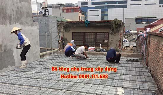 Bê tông nhẹ trong xây dựng