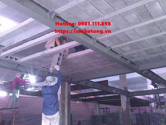 Sàn bê tông nhẹ cũng thường sử dụng cùng nhà khung thép
