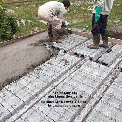 Sử dụng sàn bê tông nhẹ sẽ thi công nhanh, công trình sớm đưa vào sử dụng