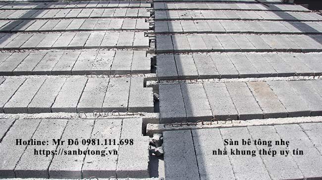 Cận cảnh mặt sàn bê tông panel nhẹ