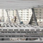 Một công trình xây dựng công nghiệp sử dụng sàn bê tông panel nhẹ do Panel Thành Đô thi công tại khu đô thị mới Cầu Giấy - Hà Nội