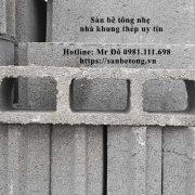 Sàn bê tông panel nhẹ sử dụng gạch bê tông rỗng nên có khả năng cách âm, cách nhiệt tốt