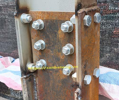 Bu long liên kết giữa móng và cột nhà thép tiền chế dân dụng