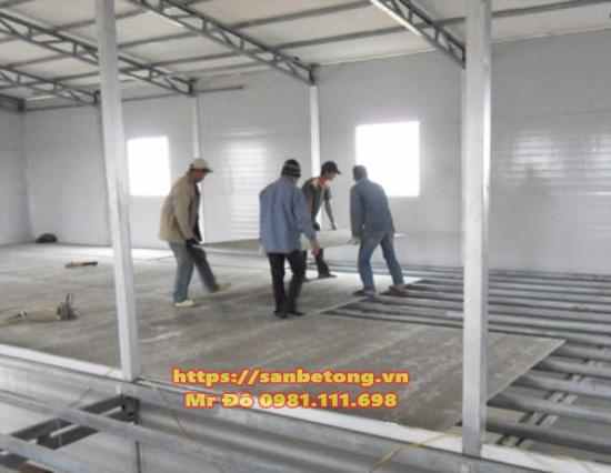 Lắp đặt tấm sàn bê tông nhẹ lắp ghép Cemboard