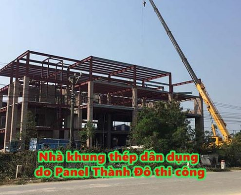 Một công trình nhà khung thép dân dụng do Panel Thành Đô thi công