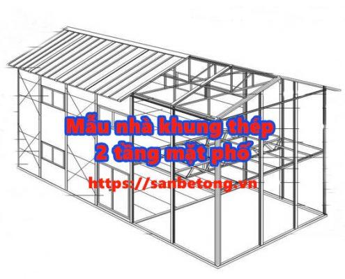 Mãu nhà khung thép 2 tầng được ưa chuộng