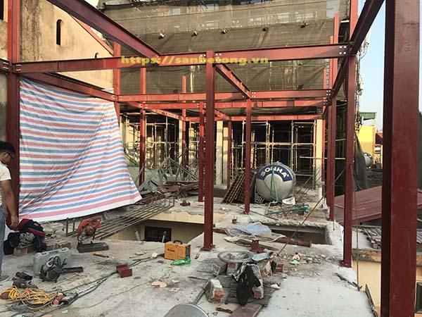 Một công trình nhà thép dân dụng cũng do Panel Thành Đô thi công tại Trần Duy Hưng - Hà Nội