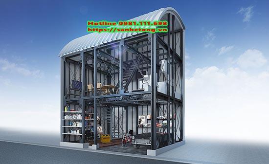 Nhà thép tiền chế thi công phù hợp mọi loại công trình