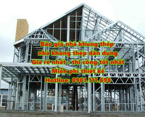 Báo giá nhà khung thép - nhà thép dân dụng