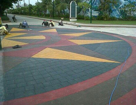 Bê tông trang trí áp khuôn được sử dụng nhiều trong xây dựng