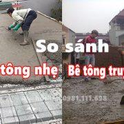So sánh giữa sàn bê tông nhẹ và bê tông truyền thống