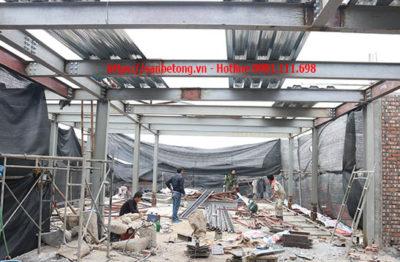 Nhà khung thép do panel Thành Đô thi công trên phố Nghi Tàm - Hà Nội