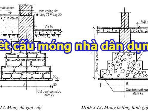Kết cấu móng nhà dân dụng