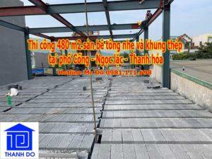 thi công sàn bê tông nhẹ tại số 846 phố Cống, Ngọc lặc, Thanh hóa
