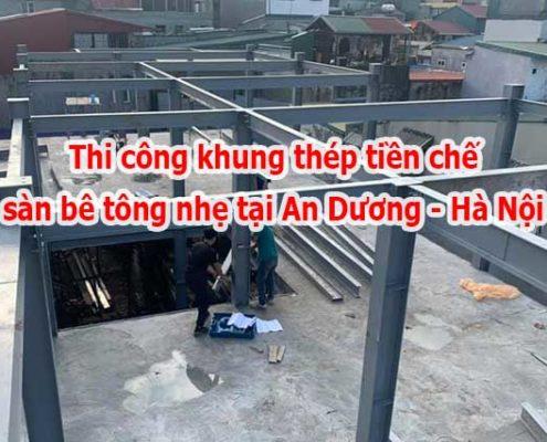 Thi công nhà thép tiền chế tại An Dương - Hà Nội