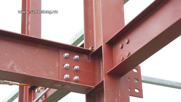 Các liên kết đảm bảo nhà thép tiền chế có kết cấu đảm bảo kỹ thuật theo tiêu chuẩn xây dựng Việt Nam
