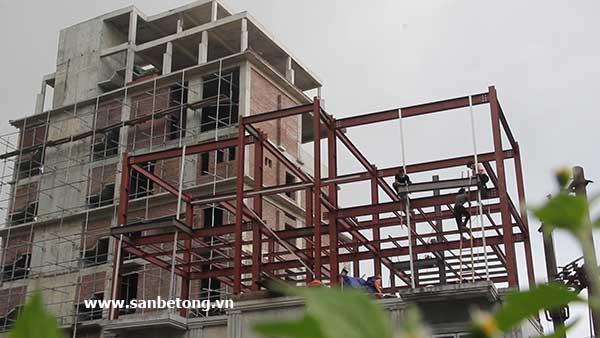 Thi công nhà khung thép cho khách sạn Phương Linh